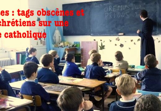 Nantes : une école catholique taguée