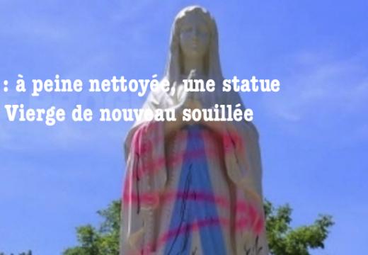 Jura : une statue de la Vierge de nouveau souillée