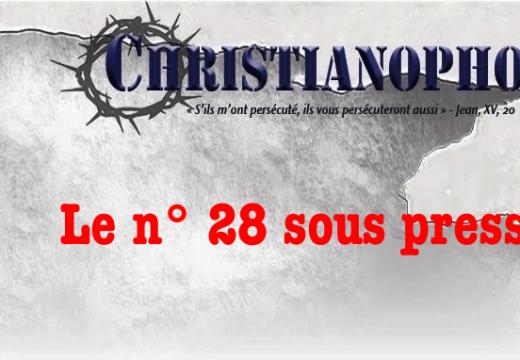 Christianophobie Hebdo : le n° 28 sous presse