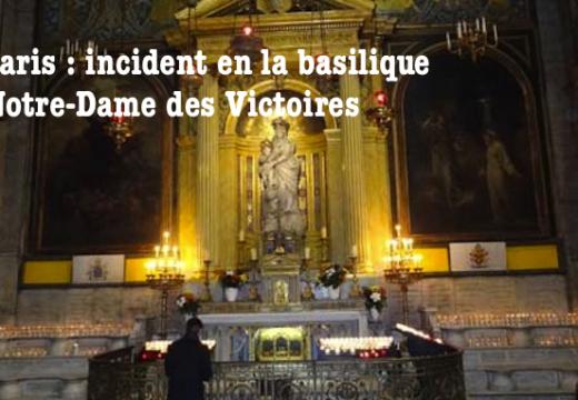 Paris : incident en basilique Notre-Dame des Victoires