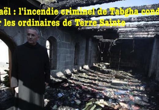 Les évêques de Terre Sainte condamnent l'incendie criminel de Tabgah