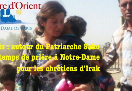 Paris : temps de prière pour les chrétiens d'Irak à Notre-Dame