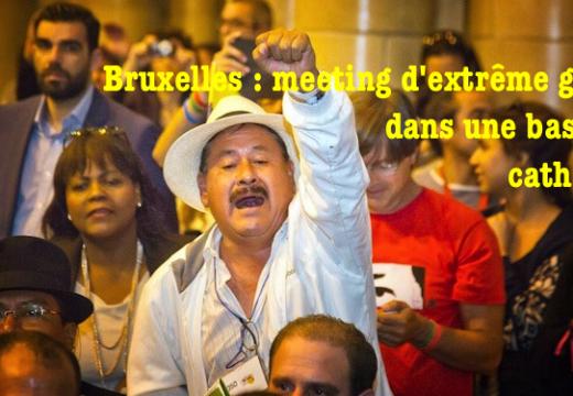 Bruxelles : l'ultra-gauche en meeting à la basilique du Sacré-Cœur !