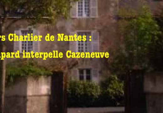 Cours Charlier de Nantes : Jacques Bompard interpelle Bernard Cazeneuve