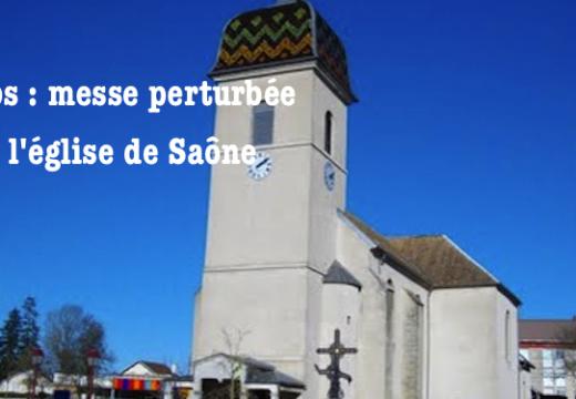 Doubs : messe perturbée dans l'église de Saône