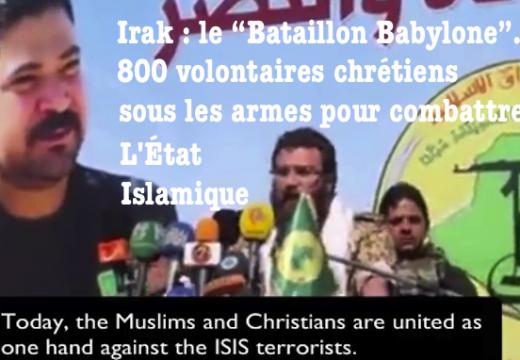 """Le """"Bataillon Babylone"""" : 800 volontaires chrétiens sous les armes contre l'État Islamique"""