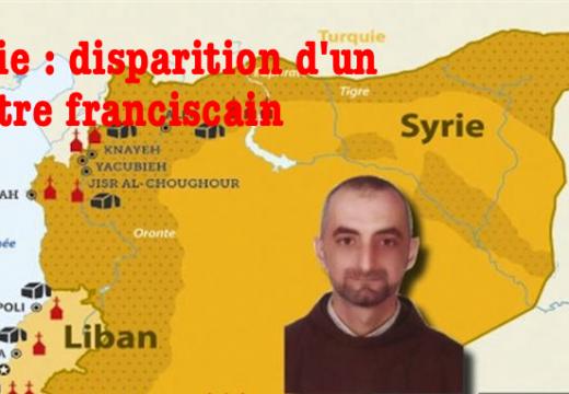 Syrie : disparition d'un prêtre franciscain