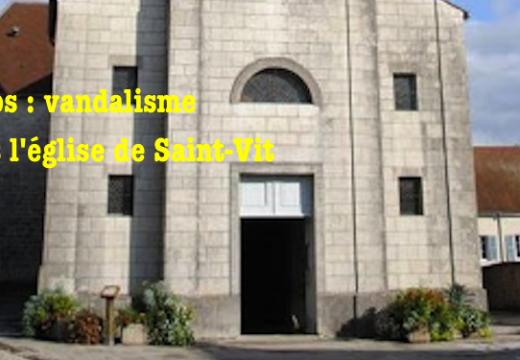 Doubs : une statue brisée dans l'église de Saint-Vit