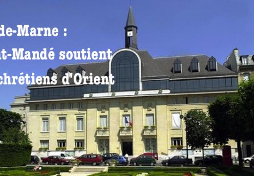 Val-de-Marne : la mairie de Saint-Mandé soutient les chrétiens d'Orient