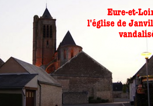Eure-et-Loir : l'église de Janville vandalisée