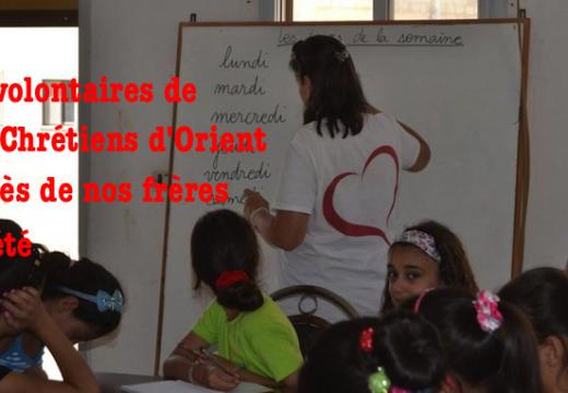90 volontaires de SOS Chrétiens d'Orient en Irak, en Syrie et au Liban cet été…