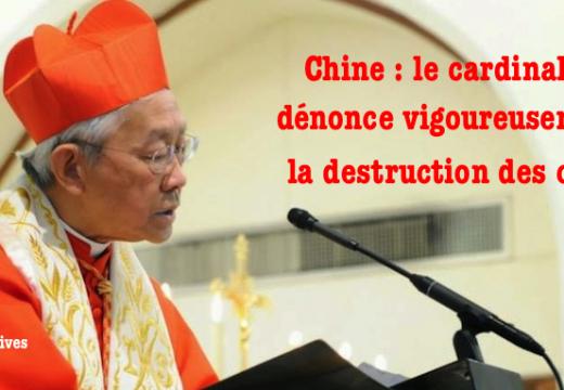 Chine : le cardinal Zen dénonce la campagne de destruction des croix