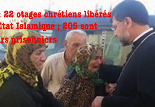 Syrie : l'État Islamique relâche 22 otages chrétiens âgés