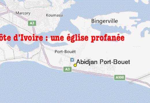 Côte d'Ivoire : une église catholique profanée