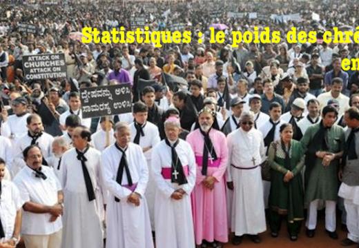 Inde : statistiques sur les chrétiens