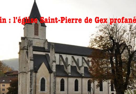 Ain : l'église de Gex profanée