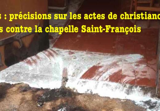 Rennes : précisions sur l'incendie criminel de la chapelle Saint-François