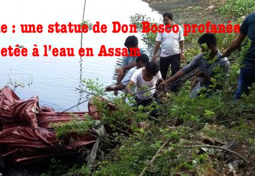 Inde : une statue de Don Bosco vandalisée et jetée à l'eau