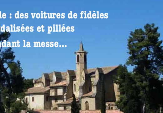 Limoux : voitures de fidèles vandalisées et pillées pendant la messe
