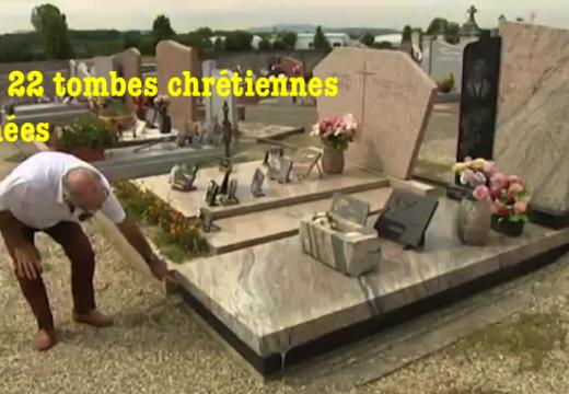 Isère : 22 tombes chrétiennes profanées à Villette-de-Vienne