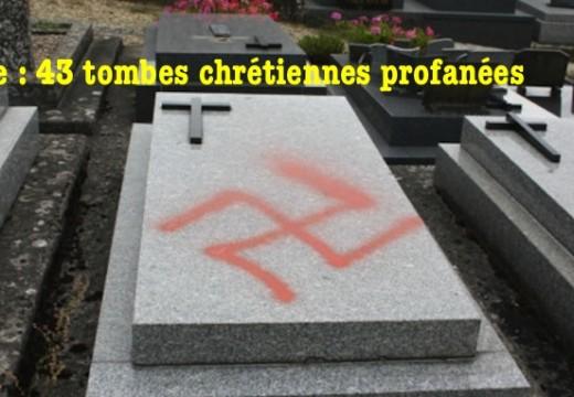Oise : 43 tombes chrétiennes profanées à Montjavoult