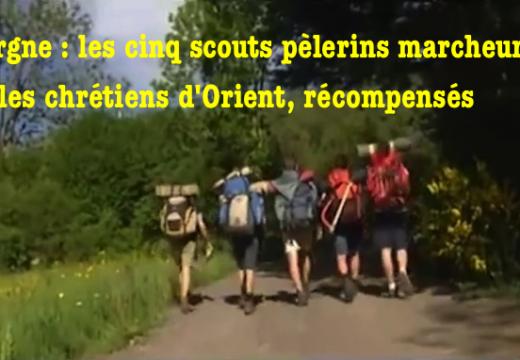 Auvergne : cinq jeunes pèlerins marcheurs pour les chrétiens d'Orient, récompensés
