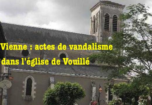 Vienne : l'église de Vouillé vandalisée
