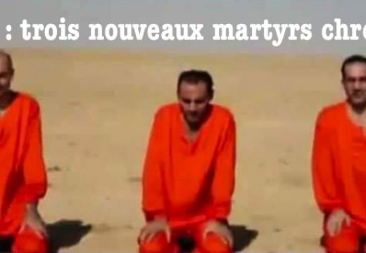 Syrie : trois otages chrétiens assassinés par les islamistes