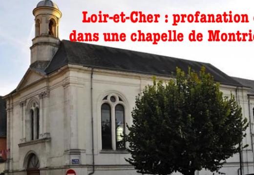 Loir-et-Cher : profanation et vol dans une chapelle de Montrichard