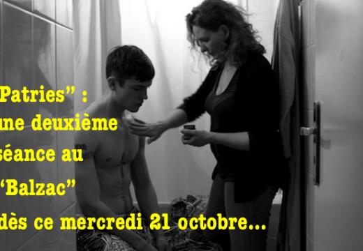 """""""Patries"""" : une séance supplémentaire au Balzac"""