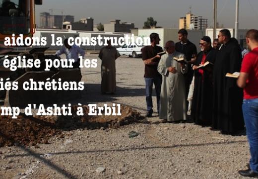 Irak : une église pour les réfugiés chrétiens du camp d'Ashti