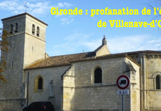 Gironde : profanation de l'église de Villenave-d'Ornon