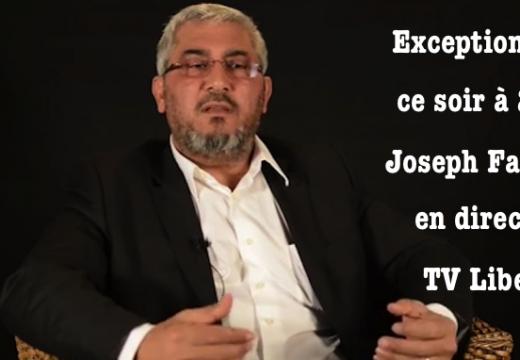 Joseph Fadelle : ce soir, conférence exceptionnelle sur TV Libertés
