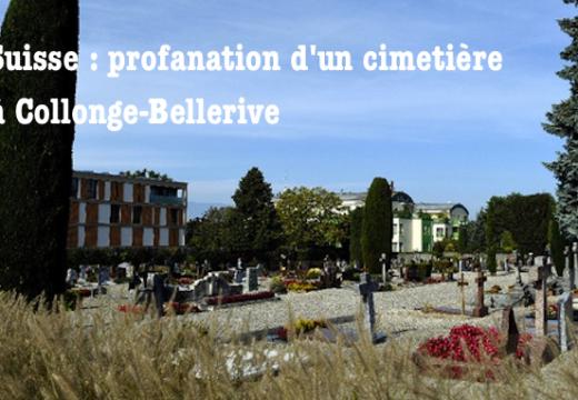 Suisse : un cimetière profané à Collonge-Bellerive