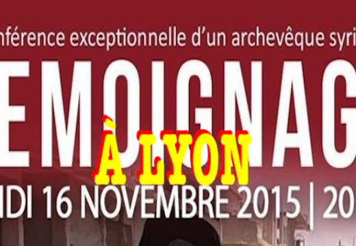Lyon : témoignage de l'archevêque de Homs