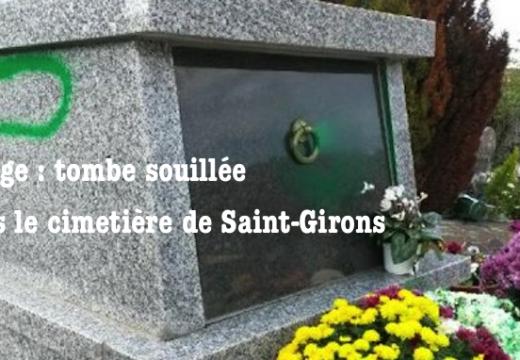 Ariège : une tombe souillée à Saint-Girons