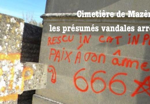 Ariège : présumés vandales du cimetière de Mazères arrêtés