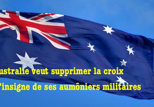 Australie : vers un abandon de la croix pour les aumôniers militaires