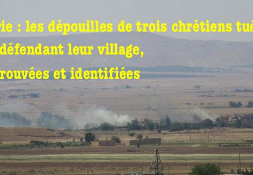 Syrie : les dépouilles de trois combattants chrétiens, retrouvées