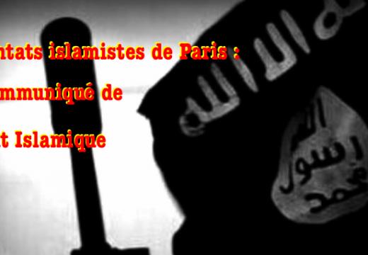 Attentats de Paris : le communiqué de l'État Islamique…