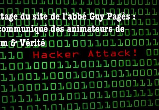 Un communiqué du webmaître de l'abbé Guy Pagès