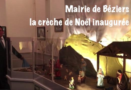 Béziers : la crèche de Noël inaugurée en mairie…