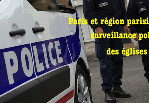 Dimanche 22 novembre : surveillance policière des églises