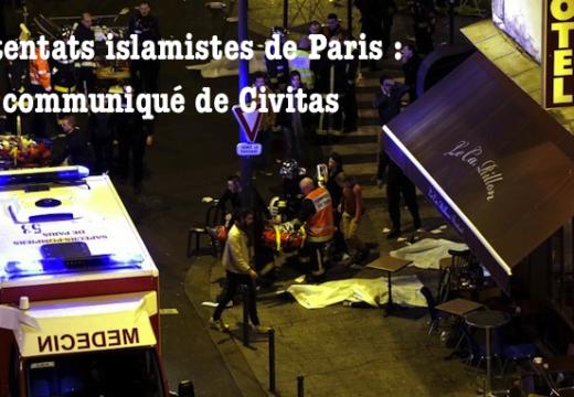 Attentats de Paris : communiqué de l'Institut Civitas