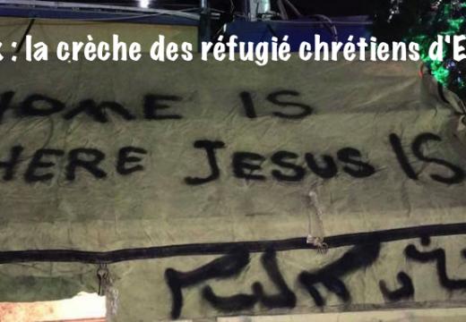 Irak : la crèche de Noël des réfugiés chrétiens du camp d'Erbil