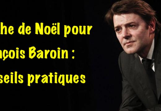 Crèche de Noël pour François Baroin : des conseils pratiques…