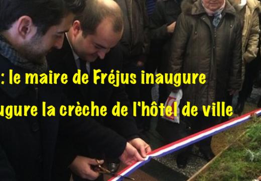 Var : crèche de Noël dans la mairie de Fréjus