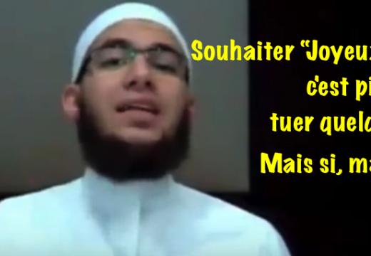 Un sheikh : « Souhaiter Joyeux Noël c'est plus grave que tuer quelqu'un » !