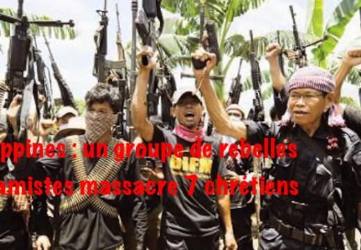 Philippines : 7 chrétiens tués par des islamistes dans le sud du pays