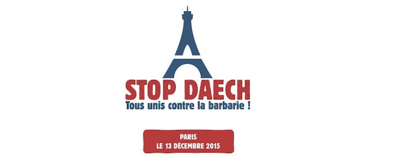 #StopDaech : manifestation à Paris au Trocadéro